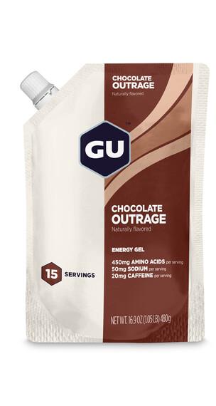 GU Energy Gel Vorratsbeutel Chocolate Outrage 480g